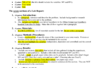 How To Write A Biology Lab Report for Biology Lab Report Template