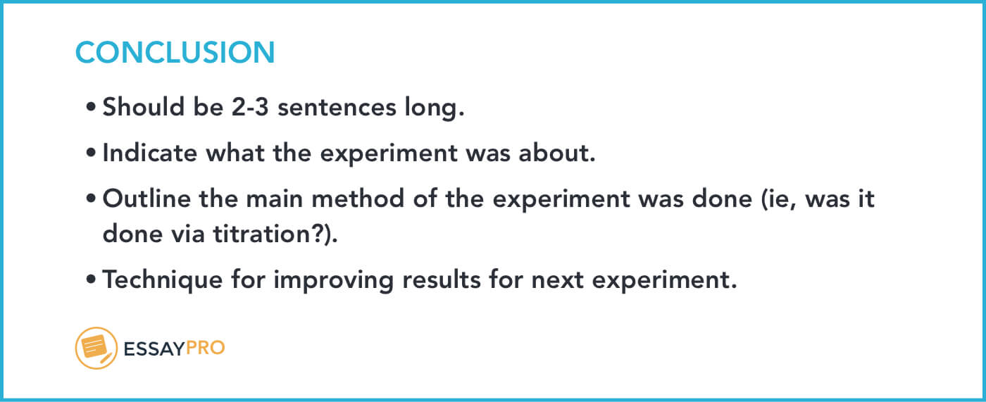 How To Write A Lab Report: Format, Examples | Essaypro for Lab Report Conclusion Template