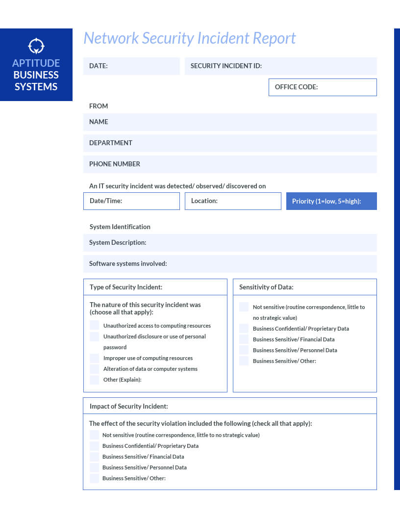 How To Write An Effective Incident Report [Examples + within It Issue Report Template