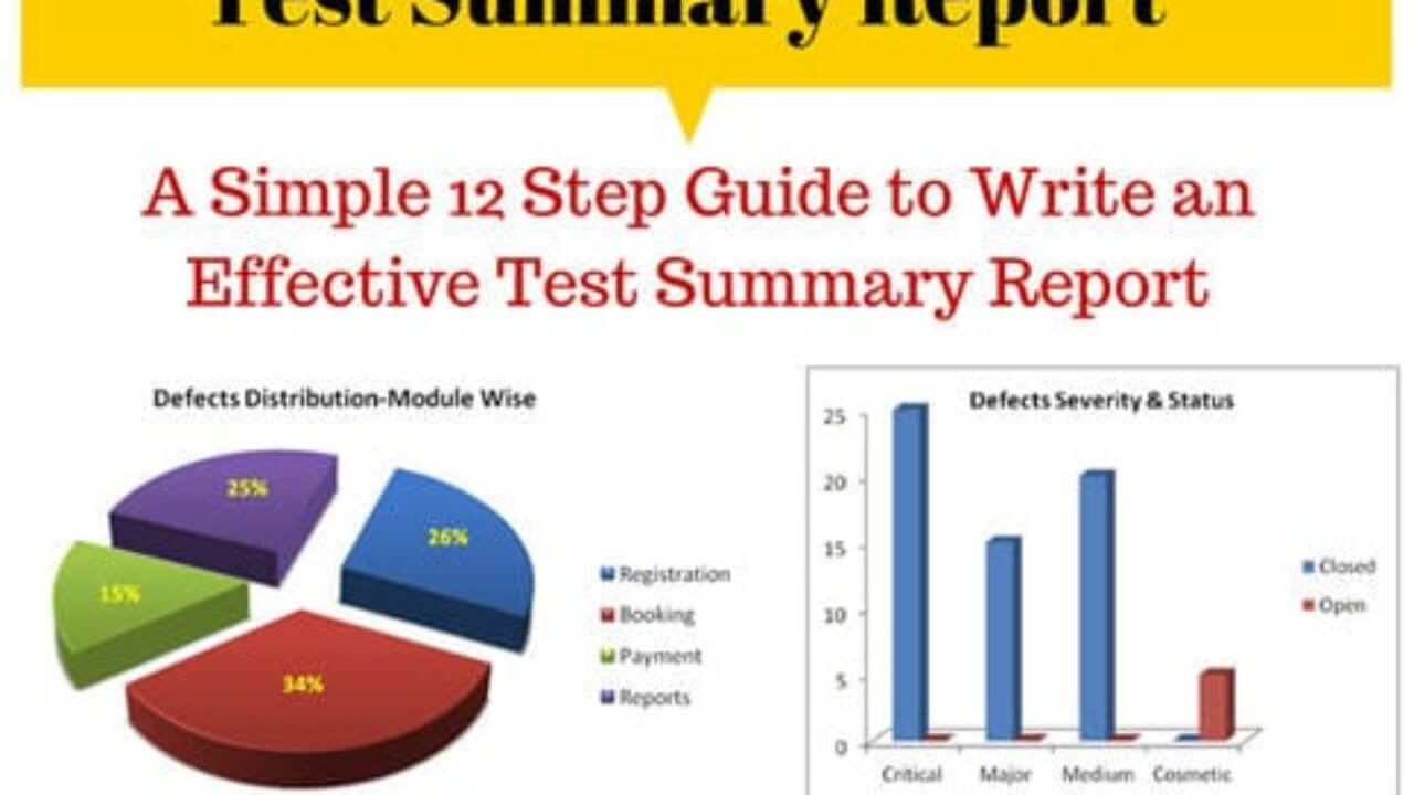 How To Write An Effective Test Summary Report [Download with regard to Test Case Execution Report Template