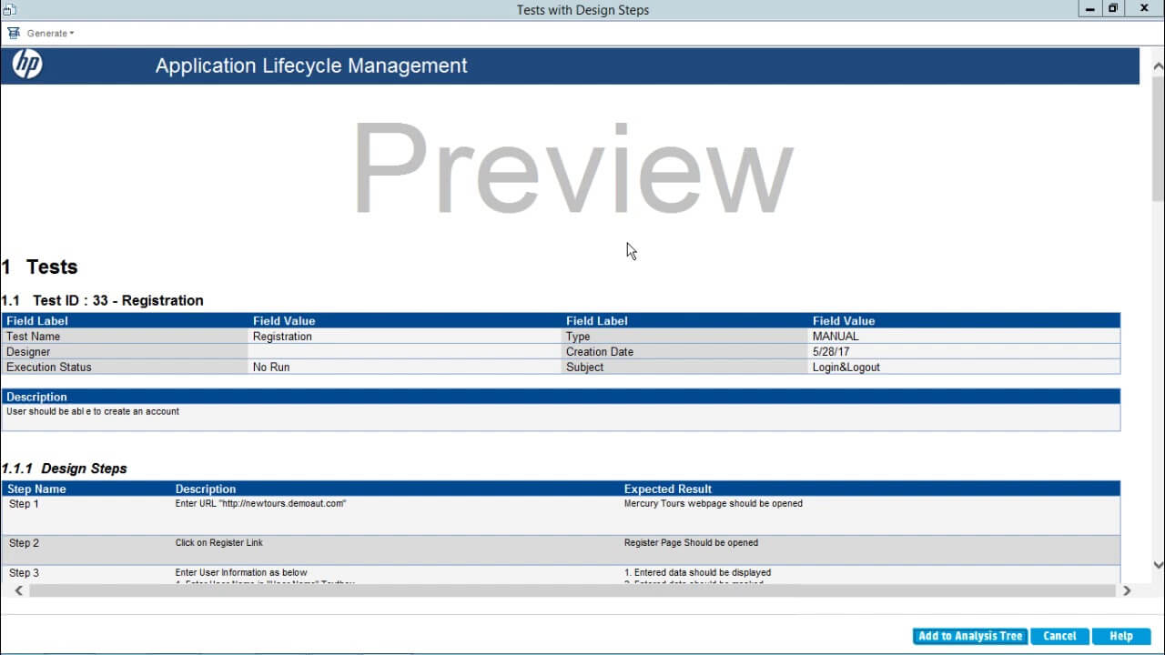 Hp Alm - Test Case Reports with Test Case Execution Report Template