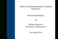 Hr Audit Example | Templates At Allbusinesstemplates for Sample Hr Audit Report Template
