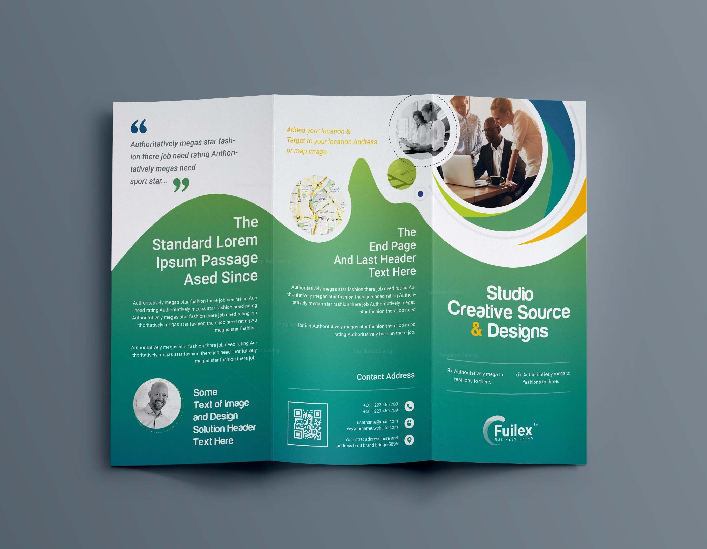 Hypnosis Professional Tri Fold Brochure Template 001203 Inside 3 Fold Brochure Template Psd