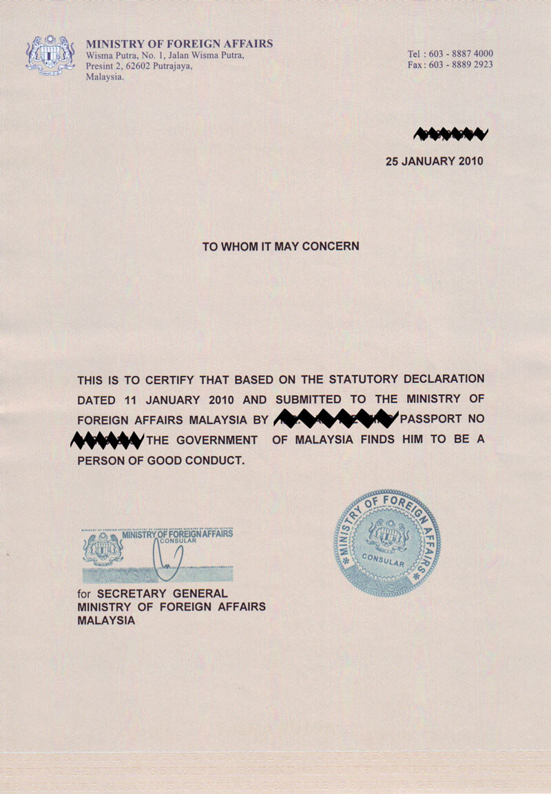 I Am Not A Blog: Certificate Of Good Conduct 6 Months Validity for Good Conduct Certificate Template