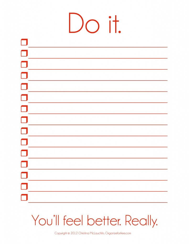 I So Need This! ~ Things To Do Template Pdf | Free Printable Inside Blank Checklist Template Pdf