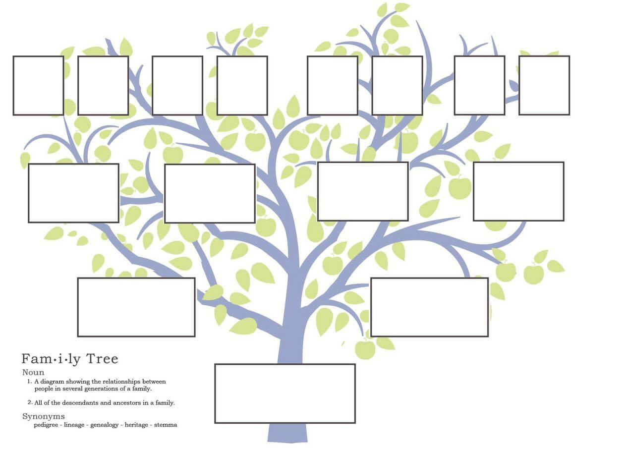 I Used A Picture Of A Family Tree For Chapter 23 Because At Regarding Blank Family Tree Template 3 Generations