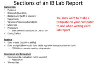 Ib Biology Lab Report Guidelines – Ppt Download with Ib Lab Report Template