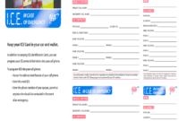 Ice Cards – Fill Online, Printable, Fillable, Blank | Pdffiller for In Case Of Emergency Card Template
