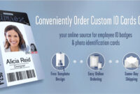 Id Badges & Cards Ordered Online With Free Design | Instantcard inside Media Id Card Templates