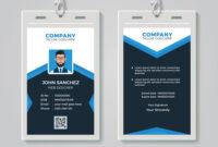 Id Card Design Template inside Company Id Card Design Template