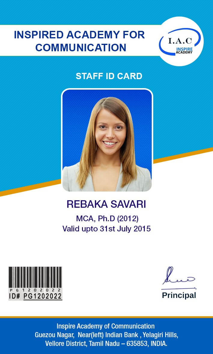 Id Card Designs | Id Card Template, Cards, School Id pertaining to Teacher Id Card Template