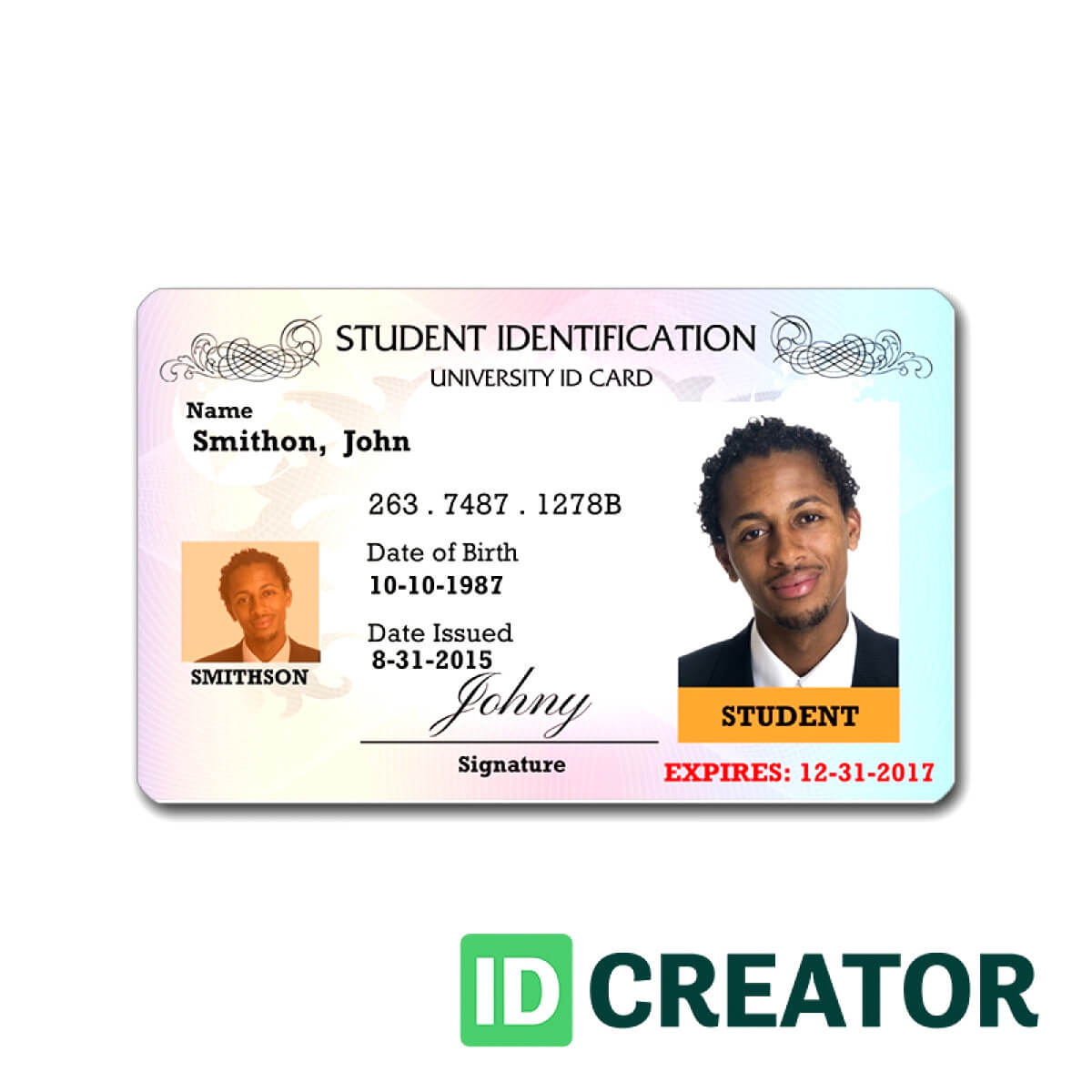 Id Card Template Coreldraw – Bushveld Lab inside French Id Card Template