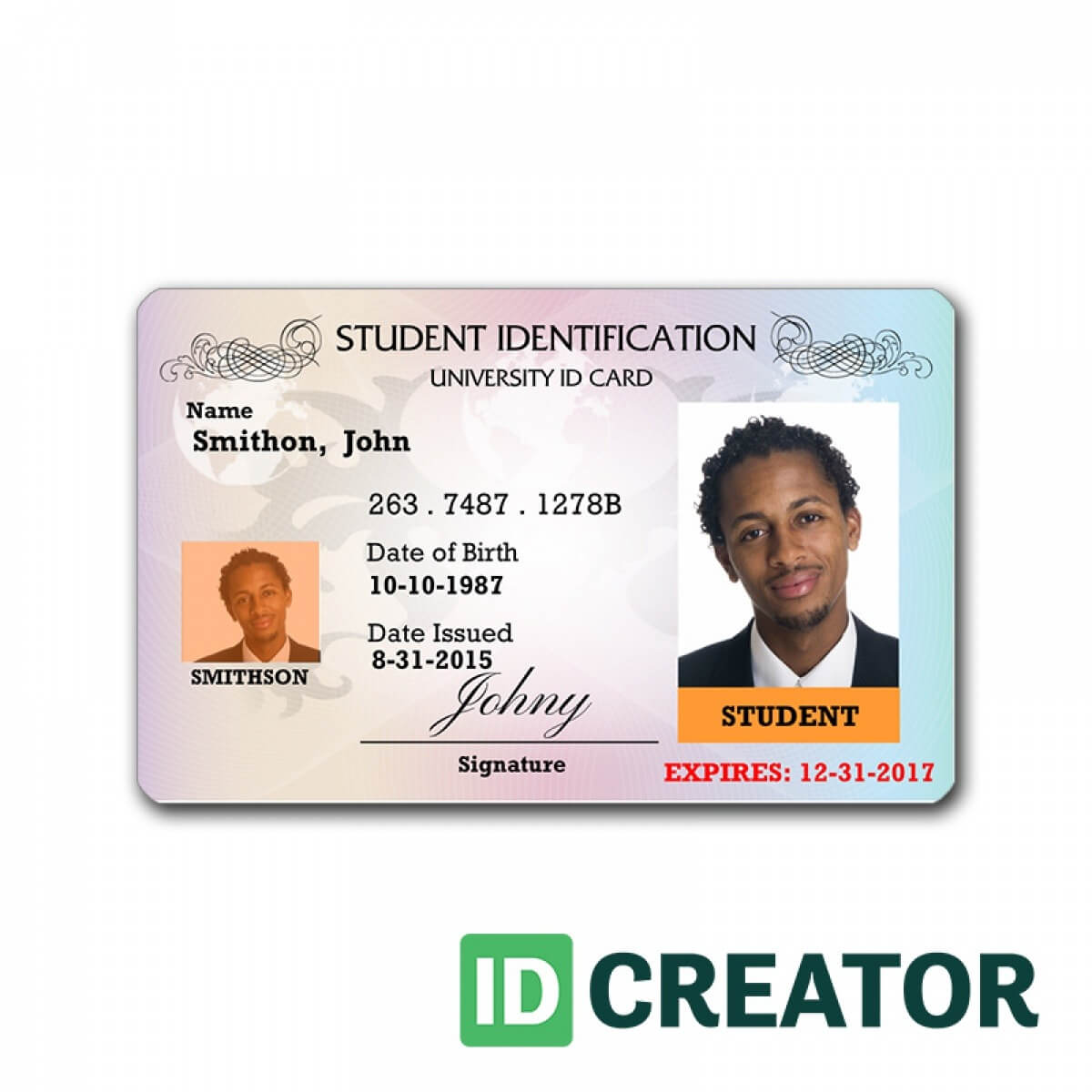 Id Card Template | Madinbelgrade pertaining to Sample Of Id Card Template
