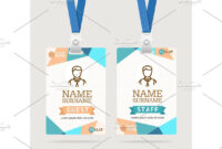 Id Card Template Plastic Badge Id Card Template Abstract regarding Conference Id Card Template