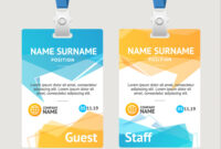 Id Card Template Plastic Badge in Conference Id Card Template