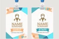 Id Card Template Plastic Badge regarding Conference Id Card Template