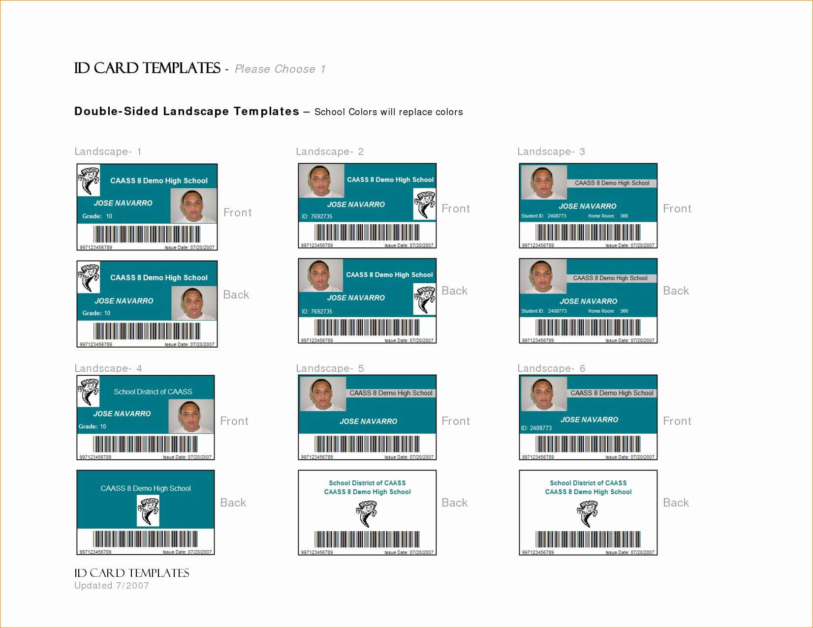 Id Card Template Word Lovely 7 Id Card Template Word | 30 Id Pertaining To Id Card Template Word Free