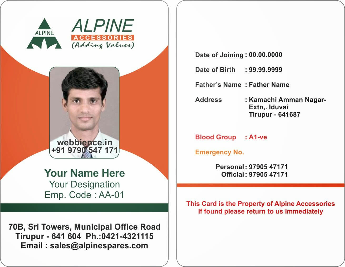 Id Cards Format - Major.magdalene-Project pertaining to Sample Of Id Card Template