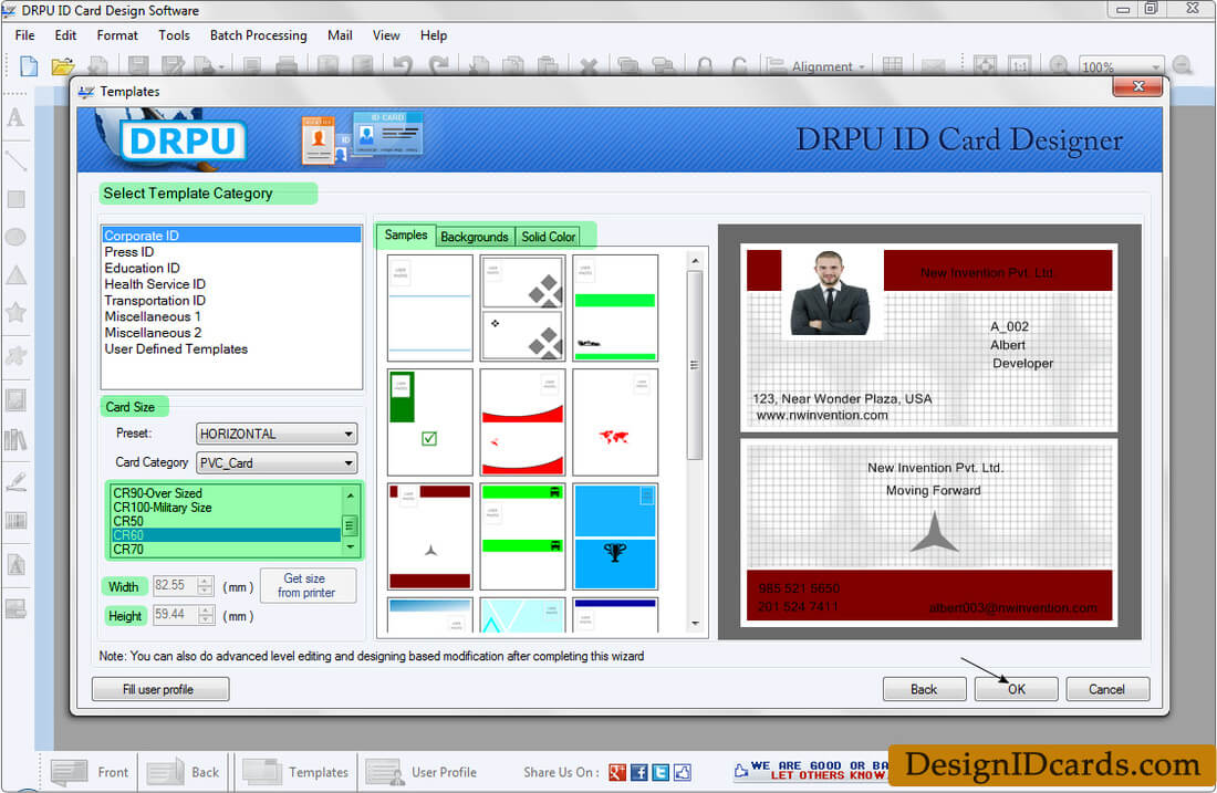Id Cards Maker Software - Design Identity Cards For Staff Or within Faculty Id Card Template