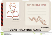 Identification Card For Non Positive Staff Stock Vector Pertaining To Mi6 Id Card Template