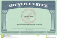 Identity Theft Card Stock Illustration. Illustration Of with Social Security Card Template Free