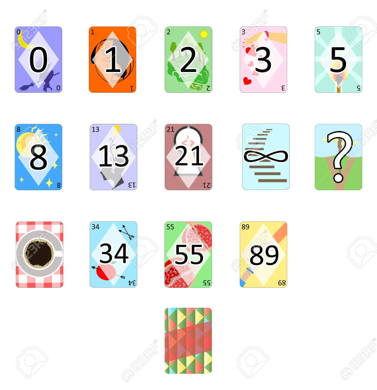 Illustration Of The Agile Poker Planning Estimation Cards. intended for Planning Poker Cards Template