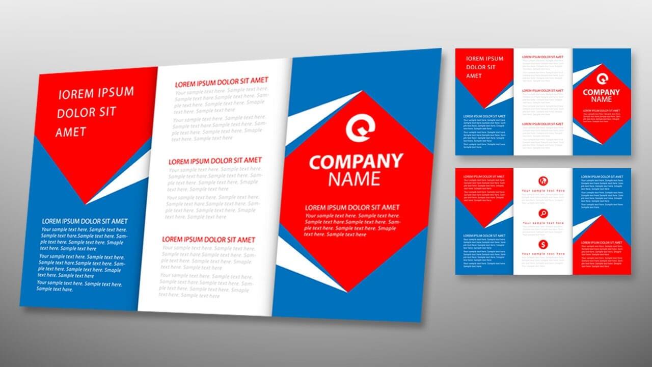 Illustrator Tutorial - Tri Fold Brochure Design Template in Tri Fold Brochure Ai Template