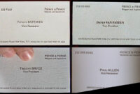 Image Result For American Psycho Business Card Font inside Paul Allen Business Card Template
