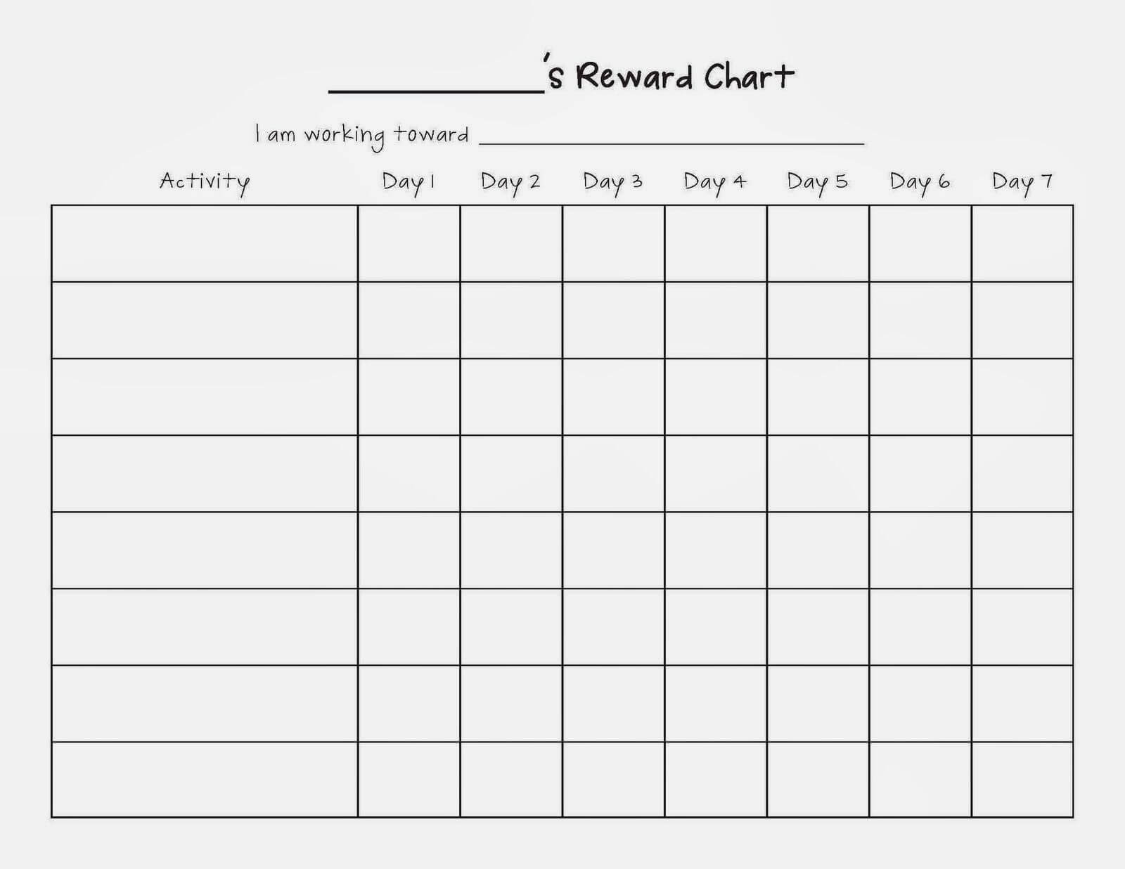 Image Result For Blank Sticker Charts | Reward Chart Pertaining To Blank Reward Chart Template