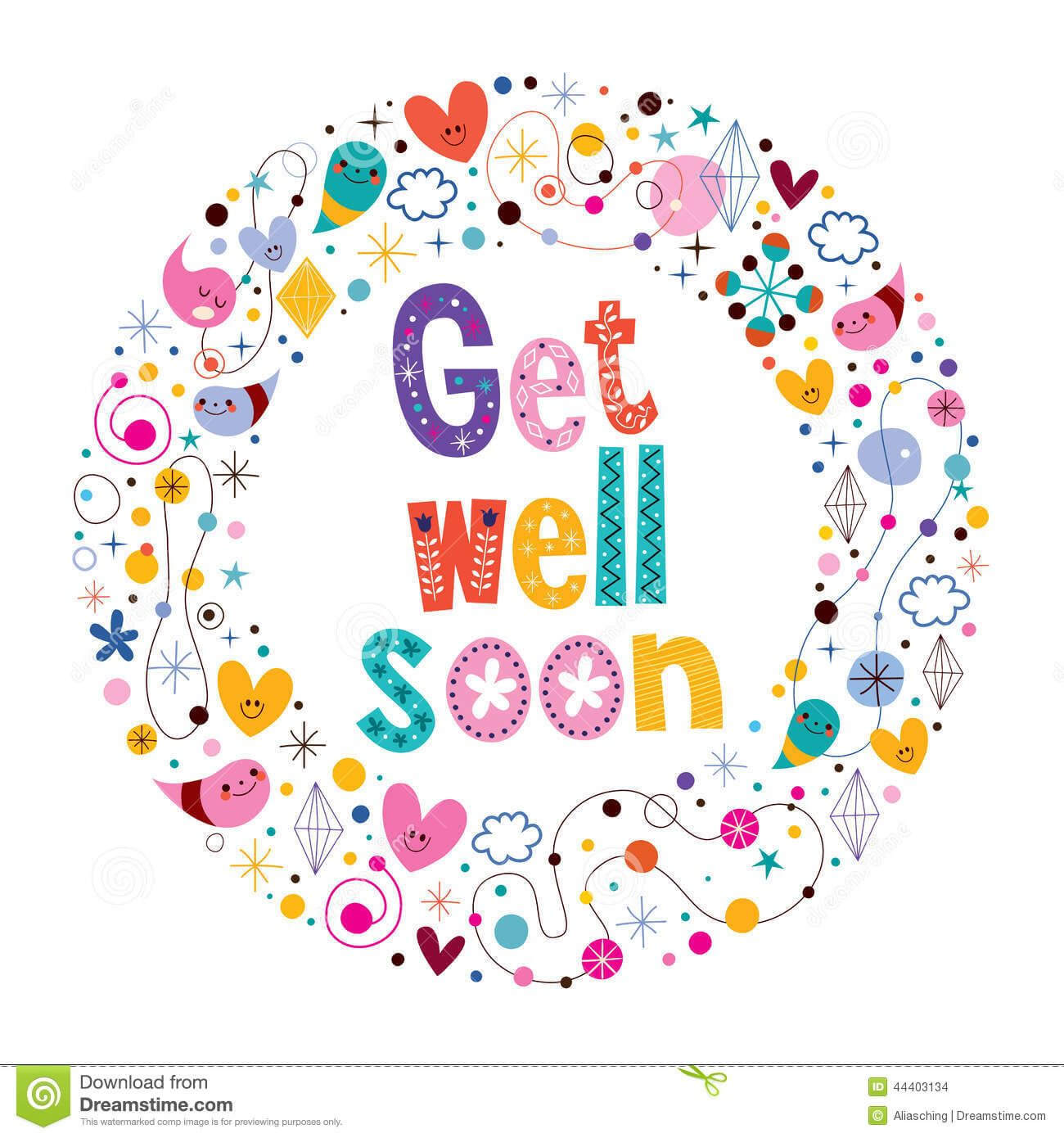 Image Result For Get Well Soon Card | My Space | Get Well Within Get Well Soon Card Template