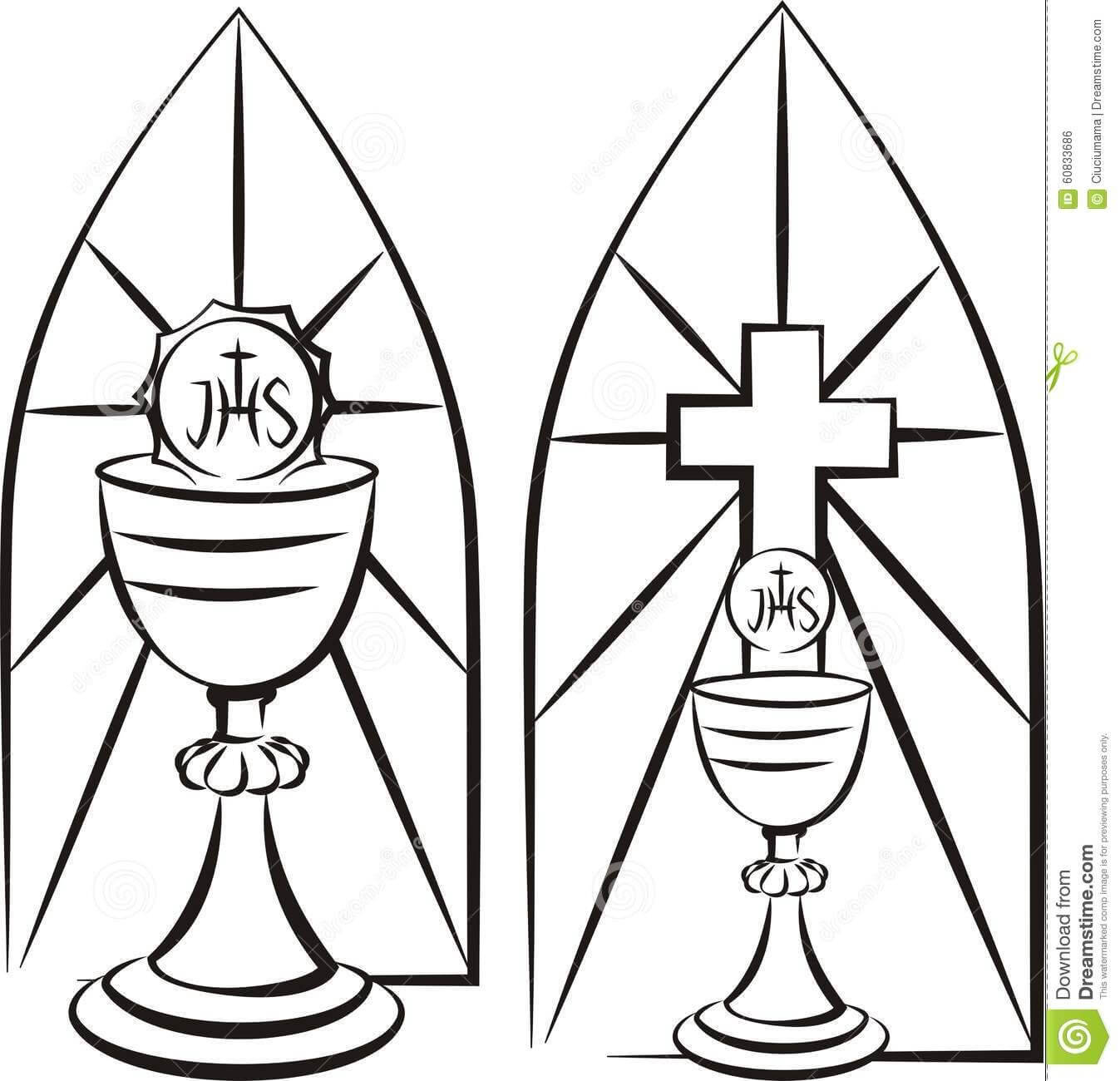 Image Result For Stain Glass First Communion Banner Template with regard to First Communion Banner Templates