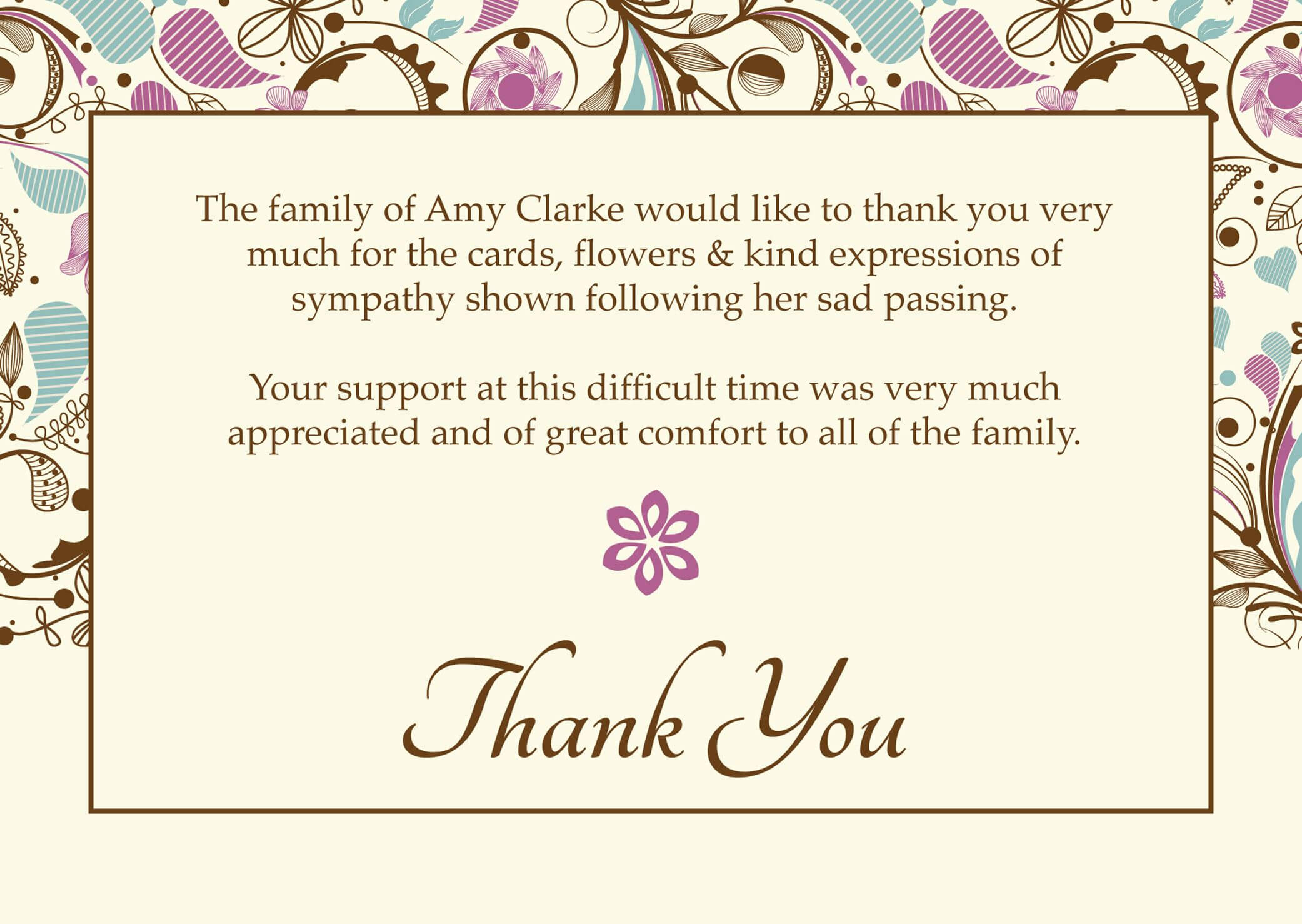 Images Of Thank You Cards Wallpaper Free With Hd Desktop In Thank You Card Template Word