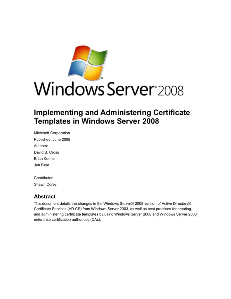 Implementing And Administering Certificate Templates For Certificate Authority Templates