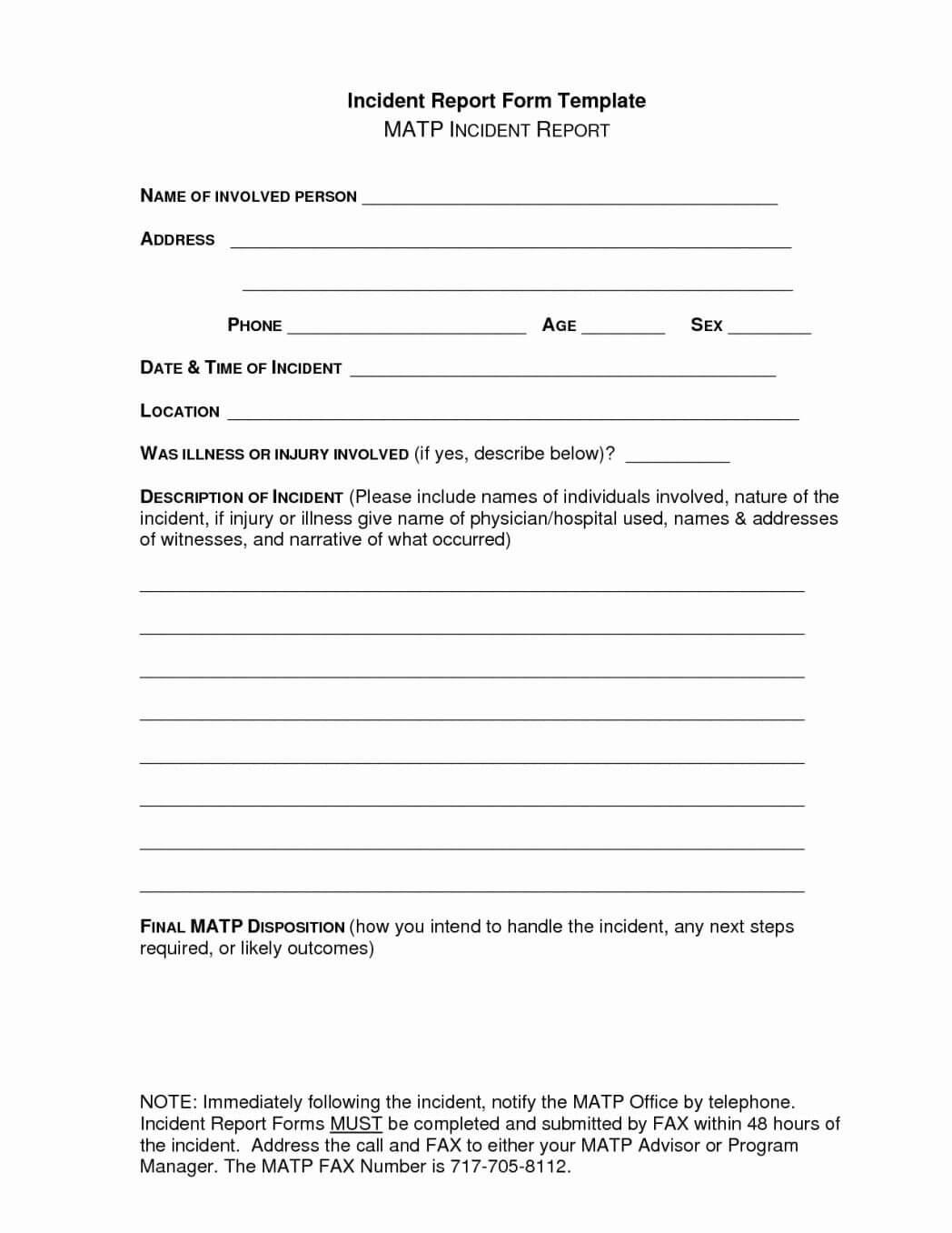 Incident Report Form Template ~ Adriennebailon inside Incident Report Form Template Qld