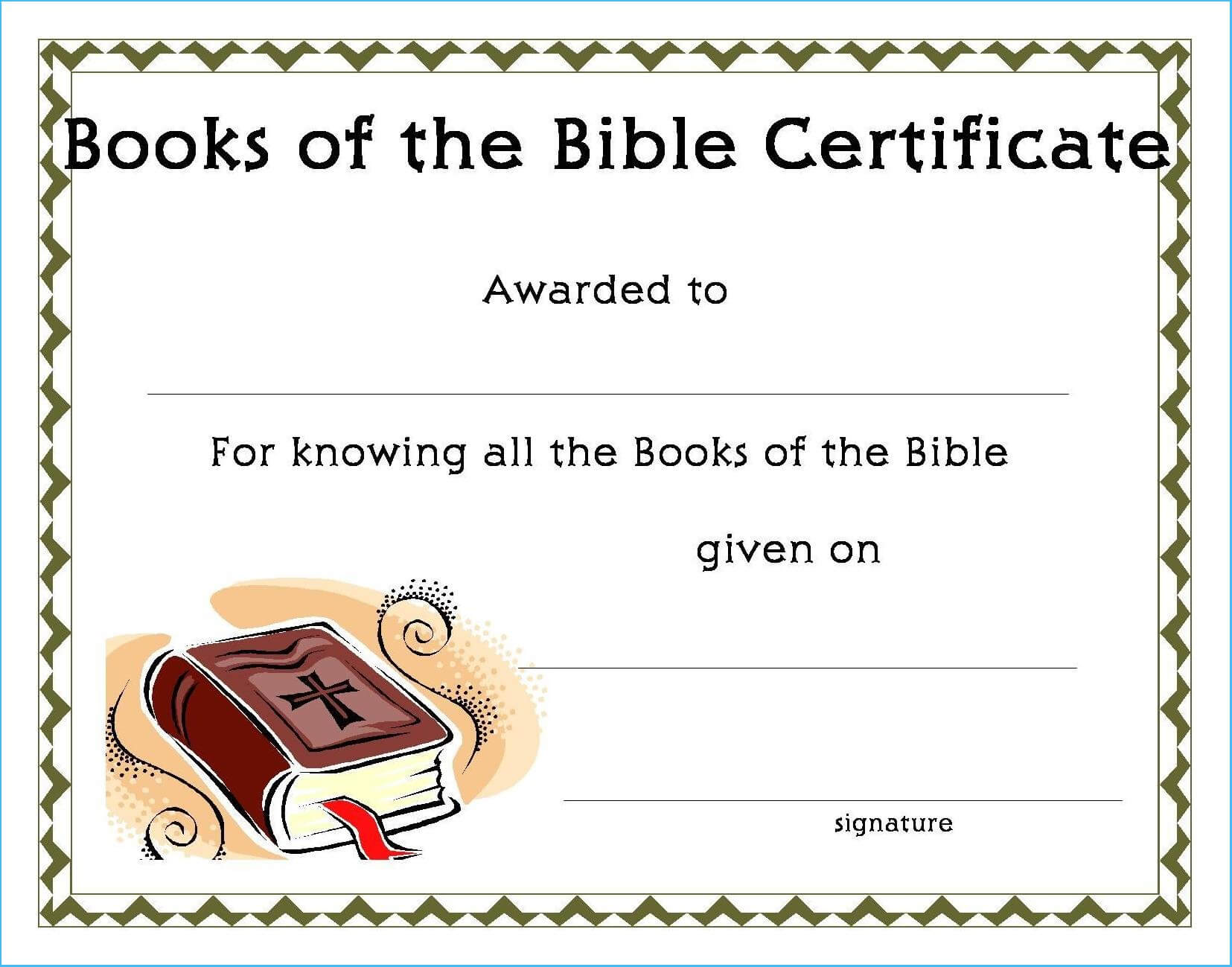 Incredible Christian Certificate Template To Design regarding Christian Certificate Template