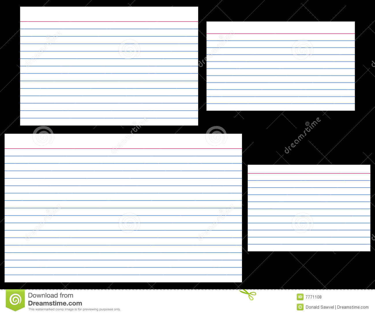 Index Cards Stock Vector. Illustration Of Stationery, Lined Pertaining To 5 By 8 Index Card Template