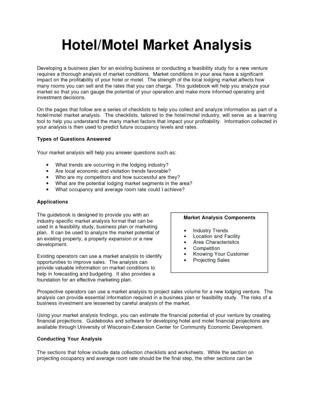 Industry Analysis Report Template - Atlantaauctionco In Industry Analysis Report Template