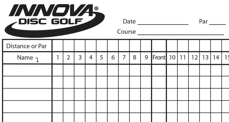 Innova Scorecard - Innova Disc Golf inside Golf Score Cards Template