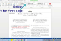 Insert Header Footer In Ms-Word For Ieee Camera Ready Manuscript pertaining to Ieee Template Word 2007