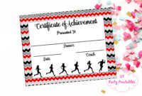 Instant Download – Cross Country Certificate – Track And Field – Running  Certificate – Jog-A-Thon Printable – Running Achievement regarding Track And Field Certificate Templates Free