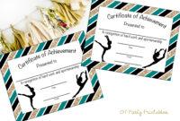 Instant Download – Gymnastics Award – Gymnastics Certificate – Printable  Gymnastics Award – Sports Achievement – You Print – Gymnastics Meet within Gymnastics Certificate Template