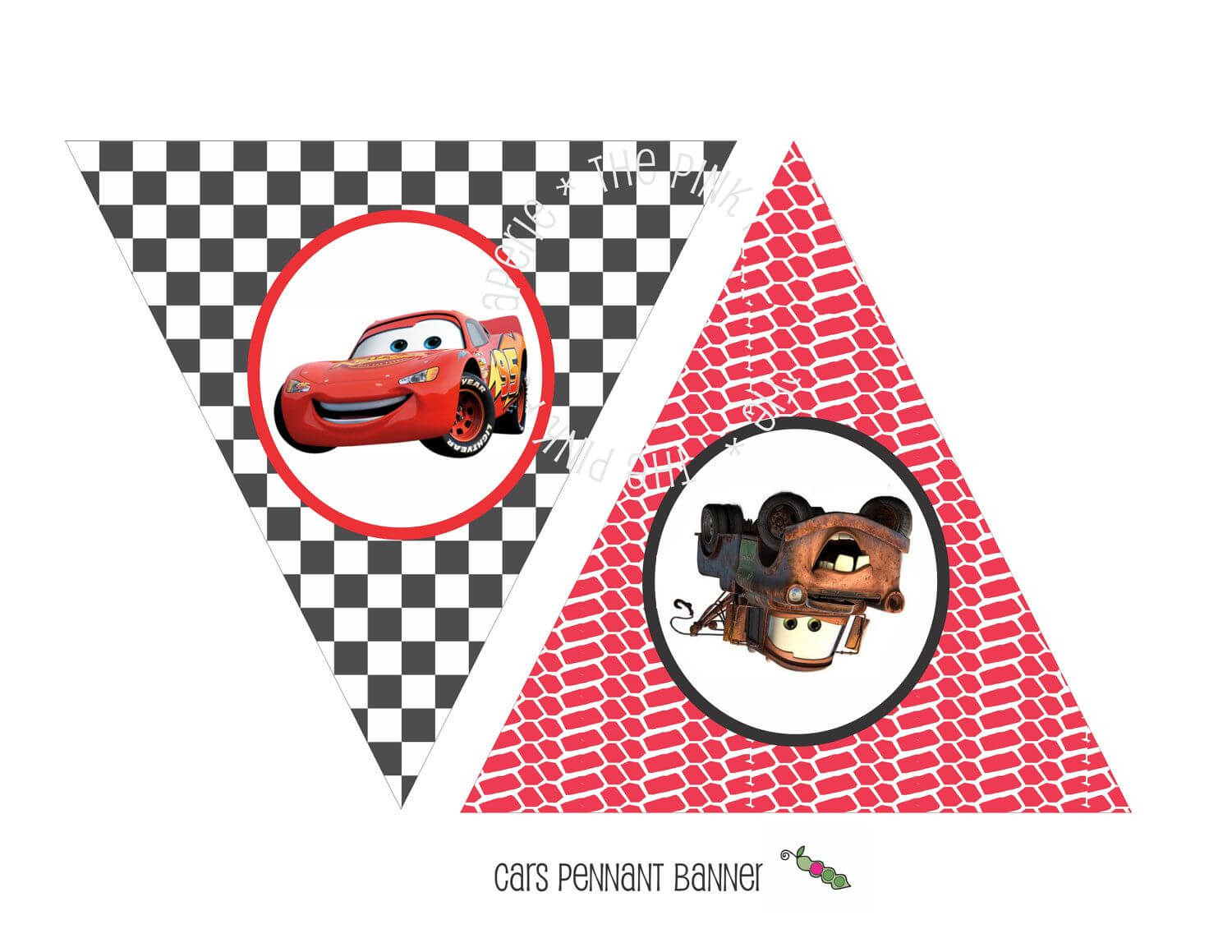 Instant Download - Printable Cars Themed Happy Birthday Pertaining To Cars Birthday Banner Template