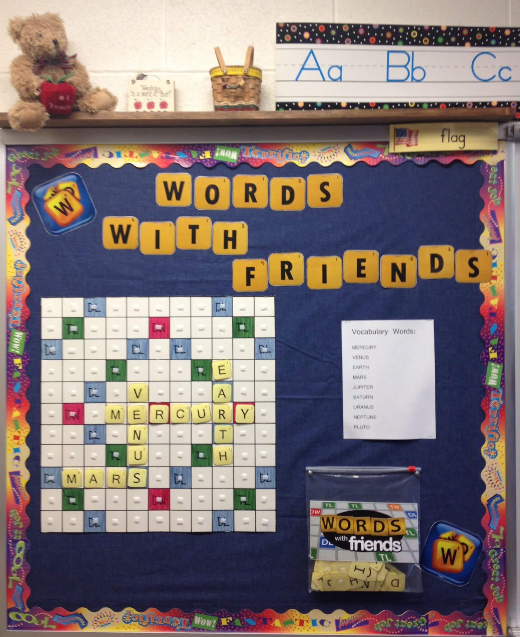 Interactive Vocabulary Bulletin Board - Image Only. I Could within Bulletin Board Template Word