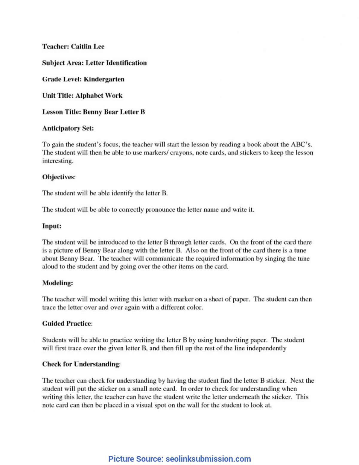Interesting Madeline Hunter Lesson Plan Example Kindergarten throughout Madeline Hunter Lesson Plan Template Blank