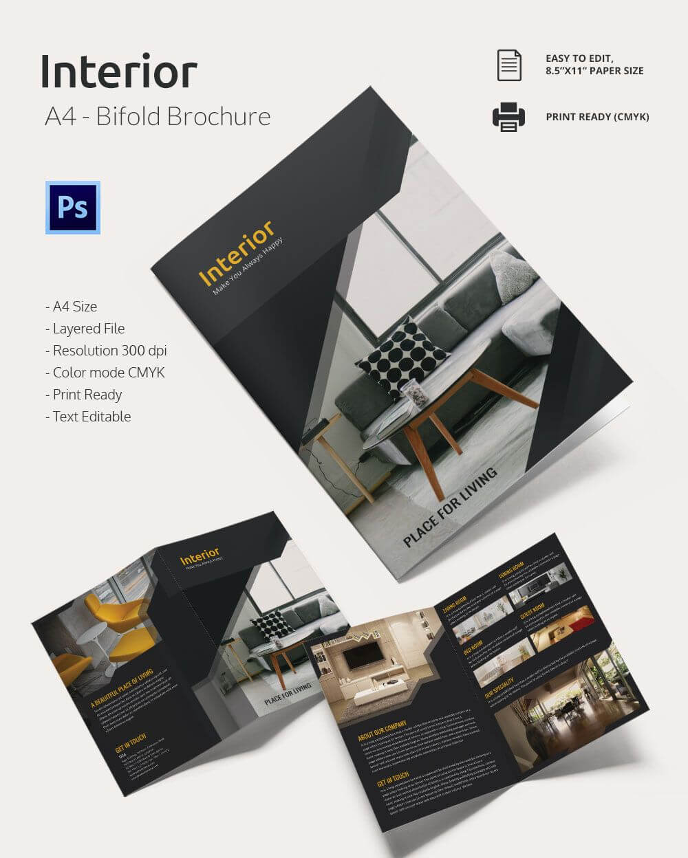 """Interior Design Brochure €"""" 20+ Free Psd, Eps, Indesign inside Brochure Templates Free Download Indesign"""