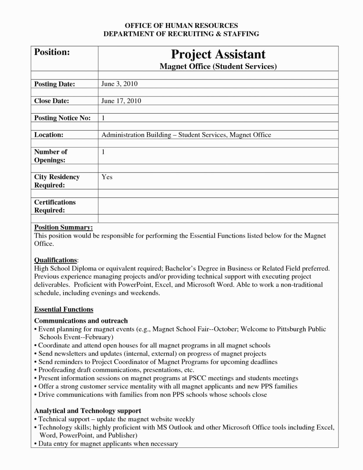 Internal Job Posting Template Word - Atlantaauctionco Pertaining To Internal Job Posting Template Word