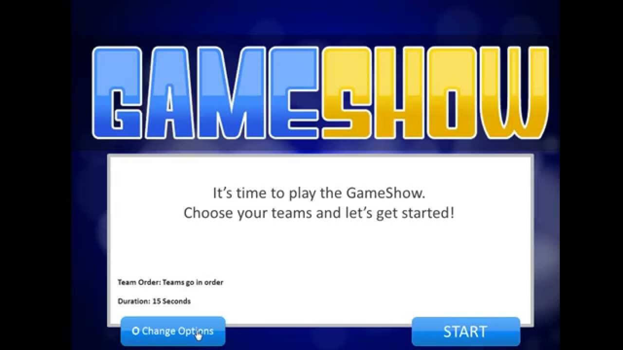 Introduction To The Powerpoint Gameshow Template Intended For Quiz Show Template Powerpoint