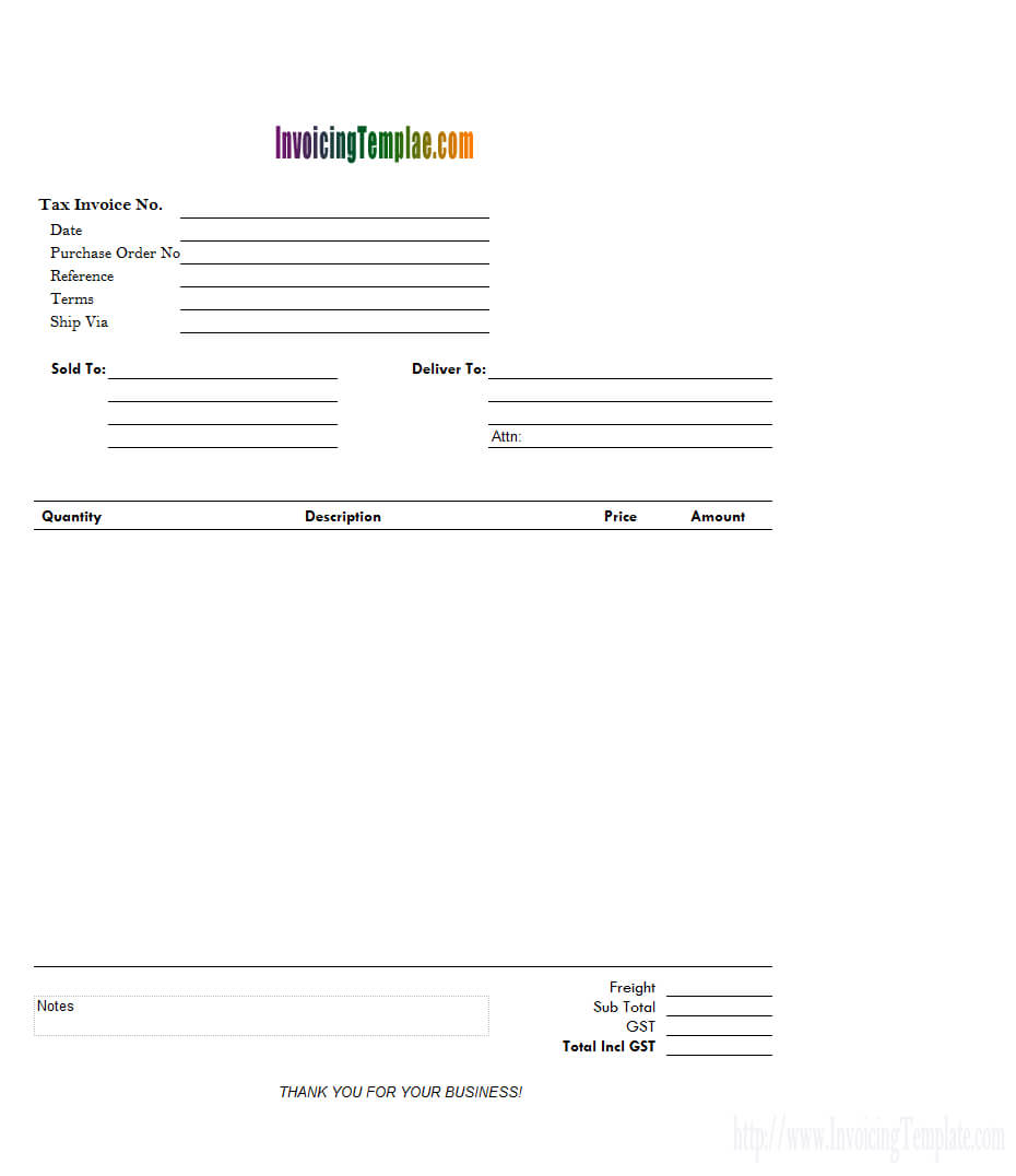 Invoice And Packing List On Separate Worksheet intended for Blank Packing List Template