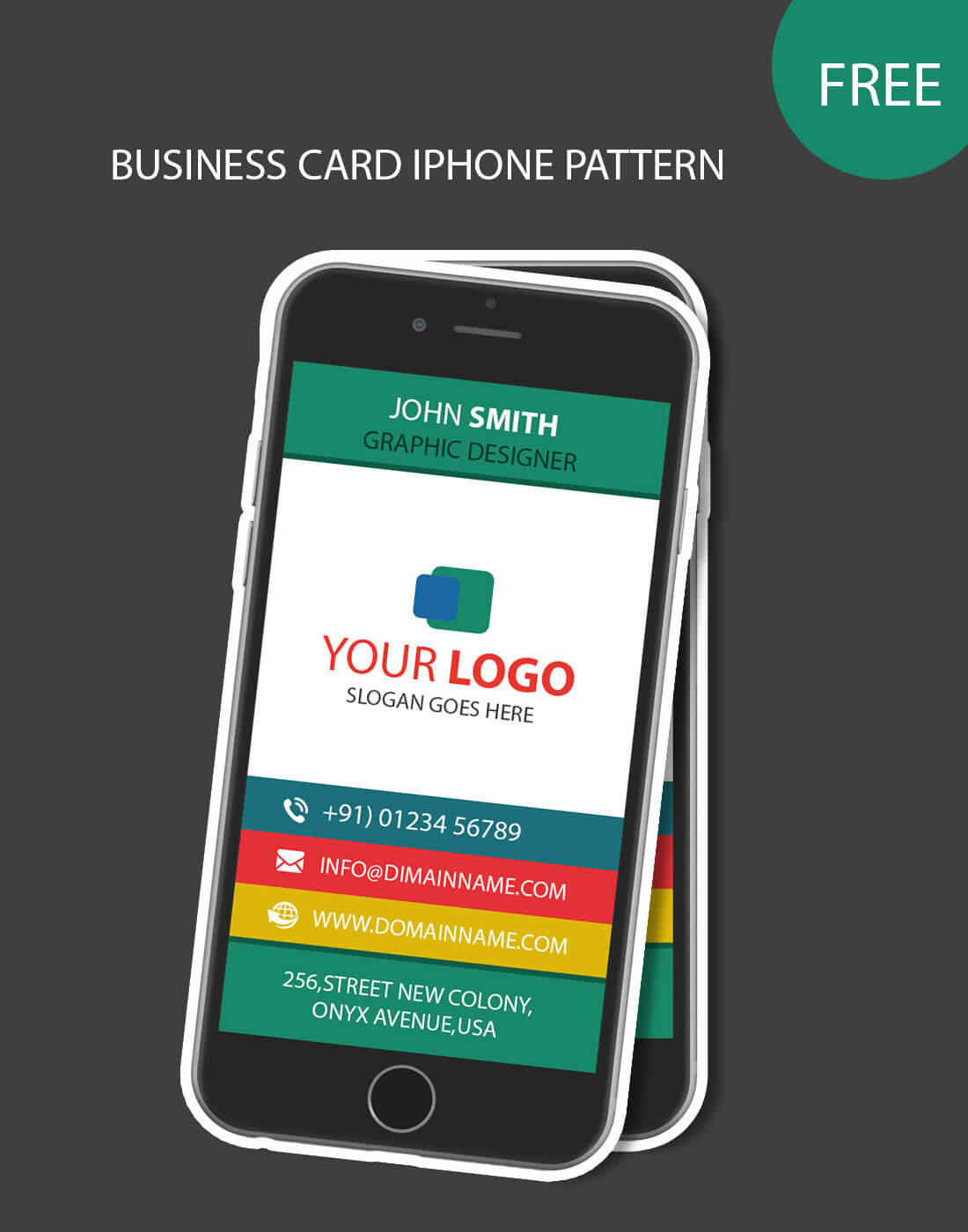 Iphone Pattern Business Card For Iphone Business Card Template