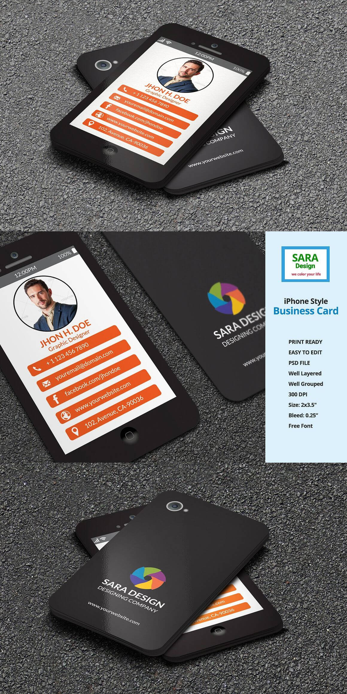 Iphone Stylish Business Card Templates Psd | Business Card with regard to Iphone Business Card Template